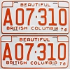 1976 British Columbia Farm Truck pair # A07-310