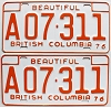 1976 British Columbia Farm Truck pair # A07-311