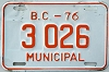 1976 British Columbia Municipal # 3026