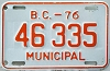 1976 British Columbia Municipal # 46335