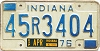 1976 Indiana # 45R3404