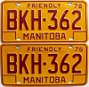 1976 Manitoba friendly pair # BKH-362