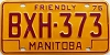 1976 Manitoba friendly # BXH-373