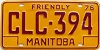 1976 Manitoba friendly # CLC-394
