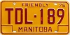 1976 Manitoba friendly Truck # TDL-189