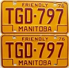 1976 Manitoba friendly Truck pair # TGD-797