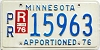 1976 Minnesota Apportioned # 15963