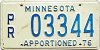 1976 Minnesota Apportioned # 3344