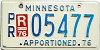1976 Minnesota Apportioned # 5477