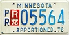 1976 Minnesota Apportioned # 5564