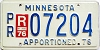 1976 Minnesota Apportioned # 7204