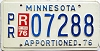 1976 Minnesota Apportioned # 7288