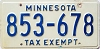 1976 Minnesota Tax Exempt # 853-678