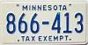 1976 Minnesota Tax Exempt # 866-413