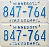 1976 Minnesota Tax Exempt pair # 847-764