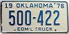 1976 Oklahoma Commercial Truck # 500-422