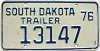 1976 South Dakota Trailer # 13147
