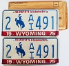 1975 Wyoming Bicentennial pair # AI491, Laramie County