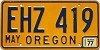 1977 Oregon #EHZ-419