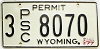 1977 Wyoming Public Service Commission Permit # 8070, Sheridan County