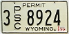 1977 Wyoming PSC Permit #8924, Sheridan County