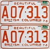 1977 British Columbia Farm Truck pair # A07-313