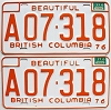 1977 British Columbia Farm Truck pair # A07-318