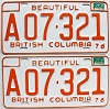 1977 British Columbia Farm Truck pair # A07-321