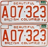 1977 British Columbia Farm Truck pair # A07-323