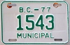 1977 British Columbia Municipal # 1543