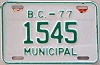1977 British Columbia Municipal # 1545