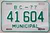 1977 British Columbia Municipal # 41604