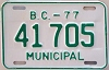 1977 British Columbia Municipal # 41705