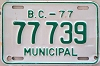 1977 British Columbia Municipal # 77739