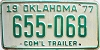 1977 Oklahoma Commercial Trailer # 655-068