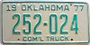 1977 Oklahoma Commercial Truck # 252-024