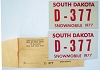 1977 South Dakota Snowmobile pair # D-377 w/envelope