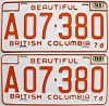 1978 British Columbia Farm Truck pair # A07-380