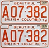 1978 British Columbia Farm Truck pair # A07-382