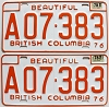 1978 British Columbia Farm Truck pair # A07-383