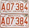 1978 British Columbia Farm Truck pair # A07-384
