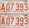 1978 British Columbia Farm Truck pair # A07-393