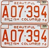1978 British Columbia Farm Truck pair # A07-394