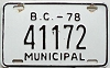 1978 British Columbia Municipal # 41172