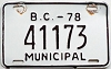1978 British Columbia Municipal # 41173
