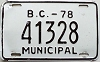 1978 British Columbia Municipal # 41328