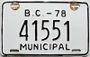 1978 British Columbia Municipal # 41551