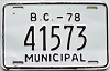 1978 British Columbia Municipal # 41573