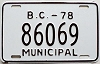 1978 British Columbia Municipal # 86069