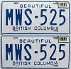 1978 British Columbia pair # MWS-525